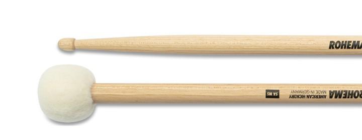Drumstick 5A mit Fellkugel Lackiert aus Hickory