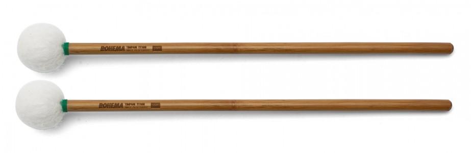 Schlägel TT108 aus Bambus mit weißer Filzkugel