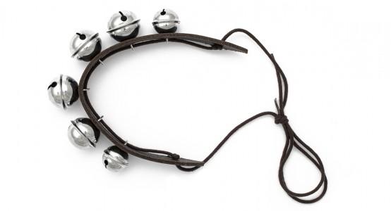 Schellenband mit 2+4 Glöckchen und mittlerer Klangfarbe