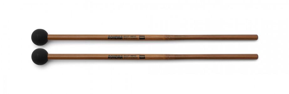 Schlägel PM762 aus Bambus mit schwarzer Gummikugel