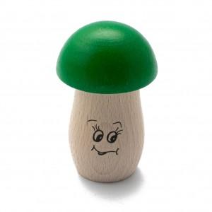 Pilz-Shaker grün aus Buche mit tiefer Klangfarbe