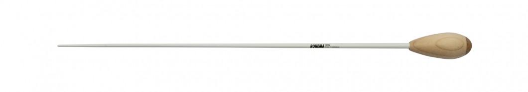 Taktstock Spohr aus Weißbuche weiß Lackiert mit Ahorngriff