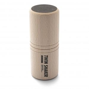 Twin Shaker aus Buche und Nussbaum mit tiefer Klangfarbe