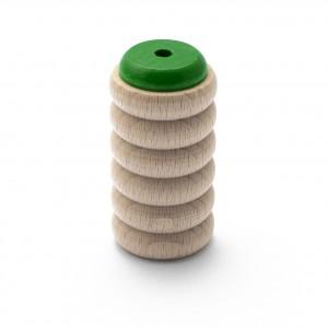 Scrapy Shaker grün aus Buche mit hohem Glocken-Klang