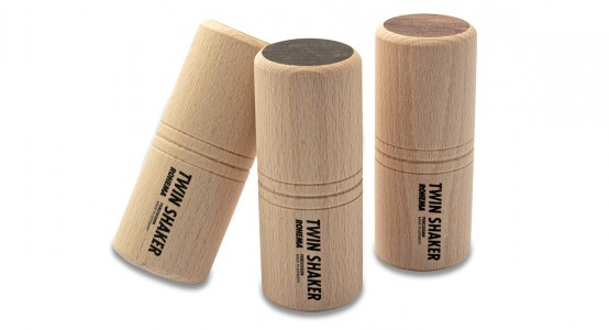 Twin Shaker Set aus Buche mit 3 Klangfarben