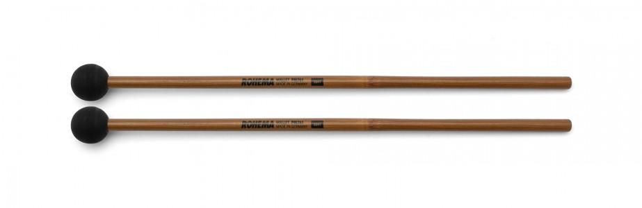 Schlägel PM761 aus Bambus mit schwarzer Gummikugel