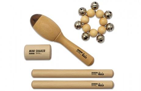 Rhythmus Instrumente Set Natur für Kinder