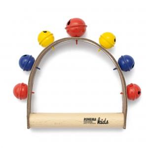 Glockenkranz mit 6+1 farbigen Glöckchen und warmer Klangfarbe