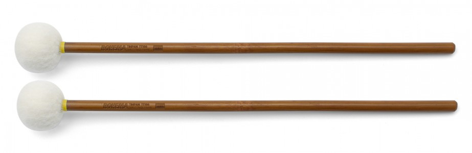 Schlägel TT106 aus Bambus mit weißer Filzkugel