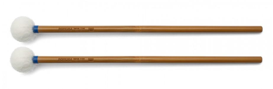 Schlägel TT104 aus Bambus mit weißer Filzkugel