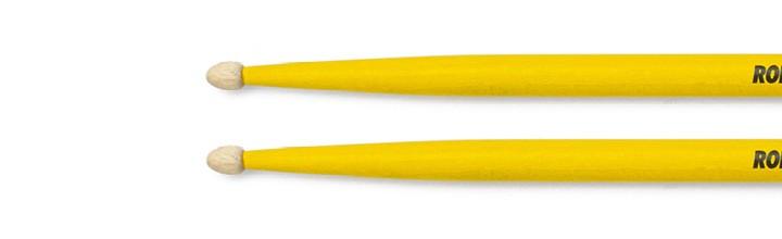 Drumstick für Kinder gelb Lackiert aus Hickory