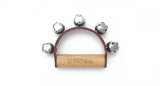 Junior Glockenkranz mit 5 Kreuzglöckchen und heller Klangfarbe