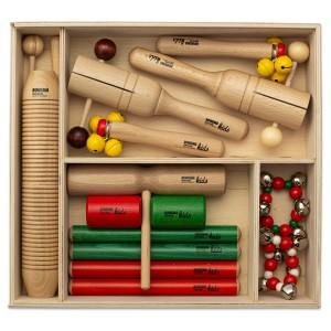 Percussion Instrumente Set 4 mit 12 Rhythmusinstrumenten