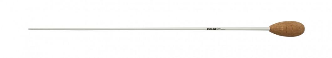 Taktstock K-Modell aus Weißbuche weiß Lackiert mit Korkgriff