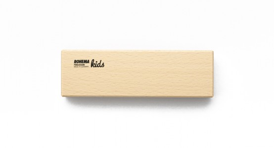 Holzblocktrommel 2-Tönig aus lackierter Buche