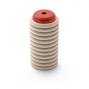 Scrapy Shaker rot aus Buche mit Rassel-Klang