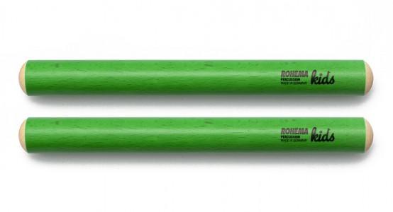 Klanghölzer Ø20mm aus grün lackierter Buche