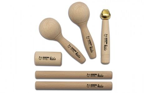 unbehandeltes Rhythmus Instrumente Set für Kleinkinder