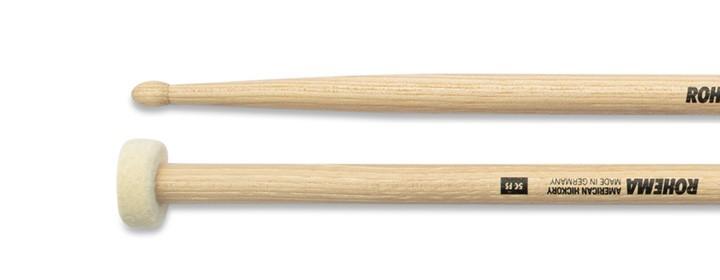 Drumstick 5C mit Filzscheibe Lackiert aus Hickory