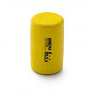 Color Shaker aus gelb lackierter Buche mit hoher Klangfarbe