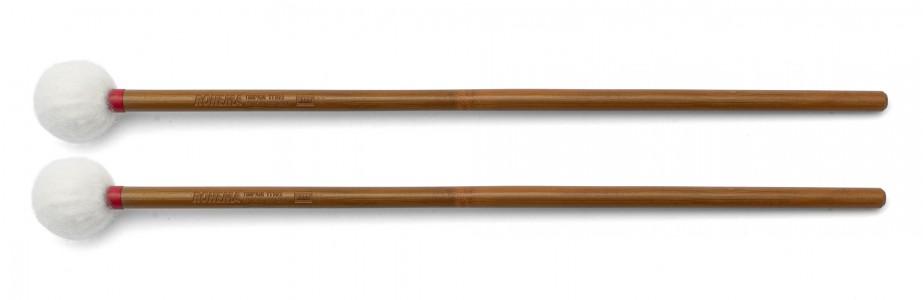 Schlägel TT102 aus Bambus mit weißer Filzkugel